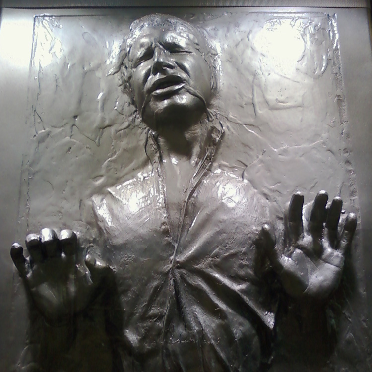 randychiu - Han Solo trapped in carbonite  Star Wars In Concert at the HP Pavilion in San Jose, CA October 11, 2009