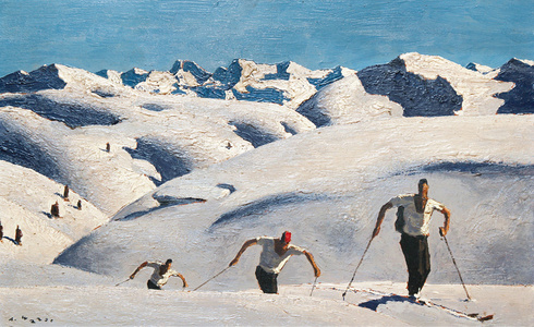 Ascent of the Skiers - Alfons Walde, 1931