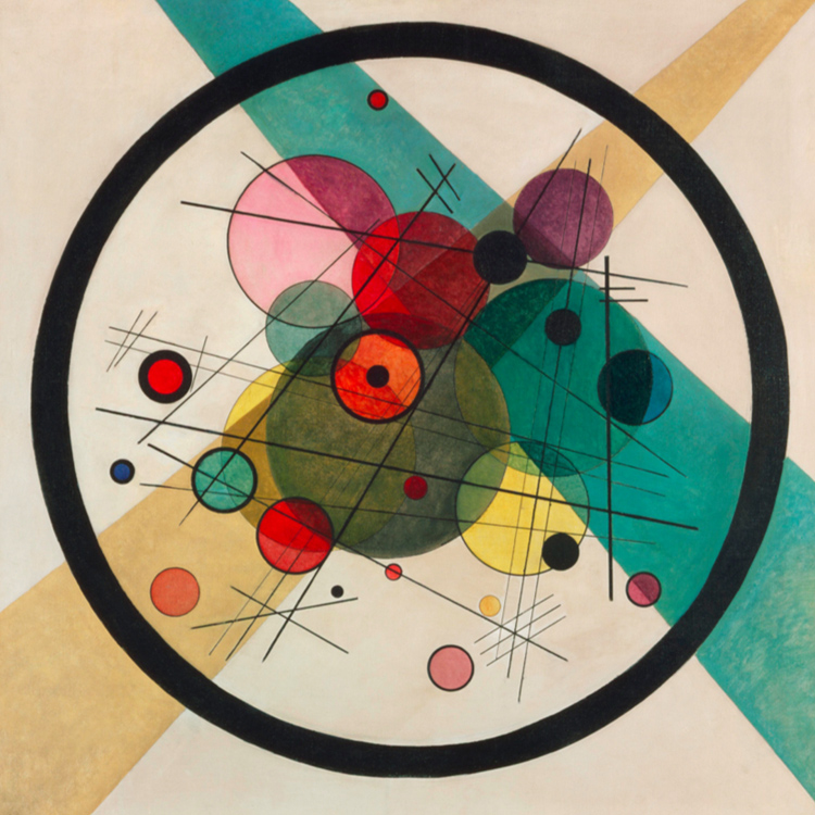 Circles in a Circle, Vassily Kandinsky, 1923