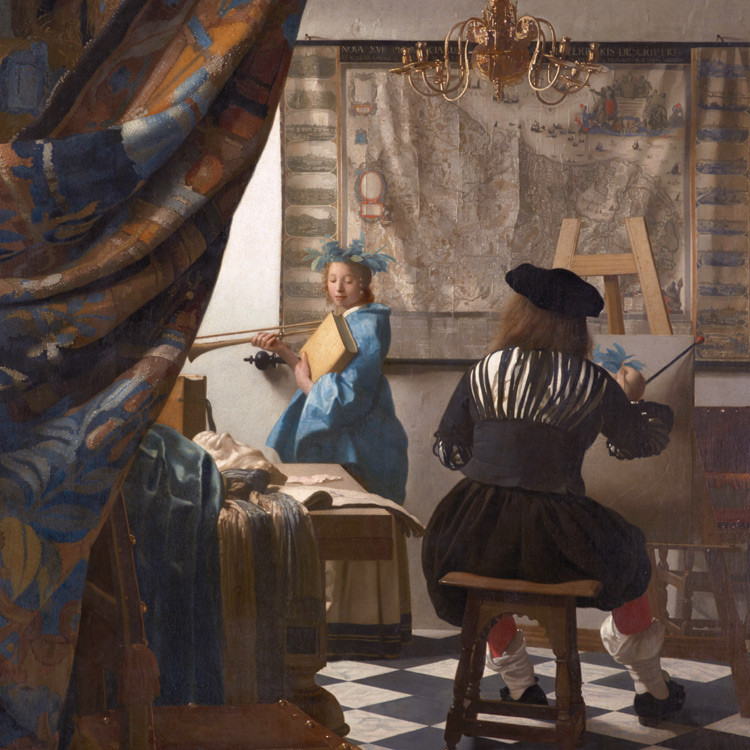 The Allegory of Painting, Johannes Vermeer, ca 1666, Public Domain