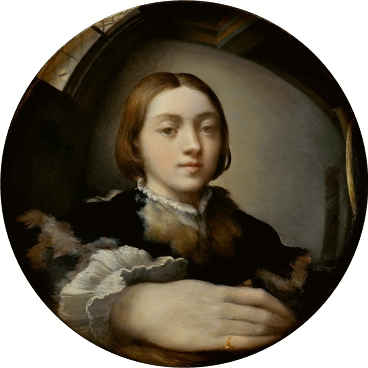 Self-portrait in a convex Mirror, Parmigianino, Public Domain