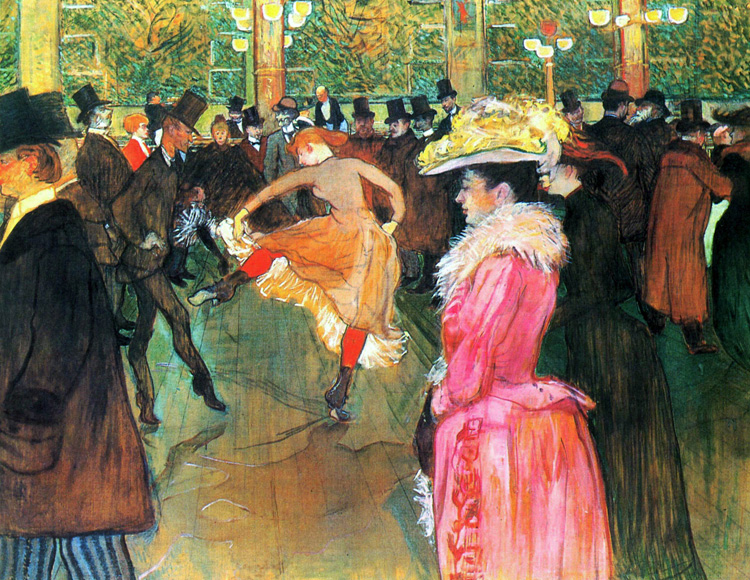 At the Moulin Rouge: The Dance, Henri de Toulouse-Lautrec, 1890, Public Domain